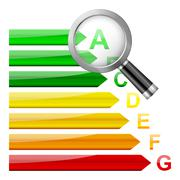 Stock Illustration of energy efficiency magnifier
