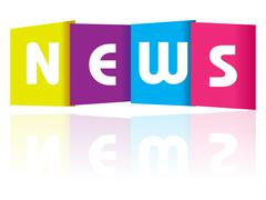 News paper text Stock Illustration