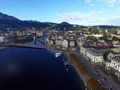 Stock Photo of Aerial View, city of old Lucerne, Switzerland