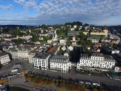 Stock Photo of Aerial View, Lucerne, Switzerland