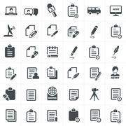 write and news icon set. - stock illustration