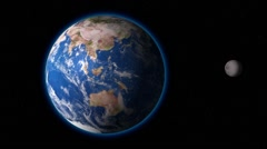 Planet Earth Space Stars Moon - stock footage