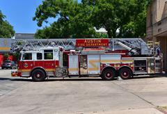 America.Fire truck from Austin, Texas.August 2015. Stock Photos