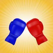 Stock Illustration of Red and Blue Boxing Gloves