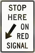 Stop Here On Red Signal in Canada - stock illustration