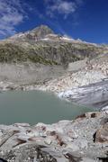Stock Photo of Rhone Glacier in the high alps