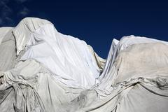 Glacier covered against melting Stock Photos
