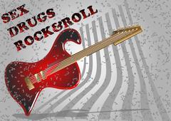 guitar simbol - stock illustration