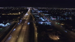 I95 highway night aerial video Stock Footage