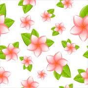 Frangipani seamless Stock Illustration
