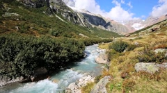 River Chelenreuss in the Alps of Switzerland Stock Footage