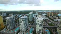 Aerial Sunny Isles Beach FL 7 - stock footage