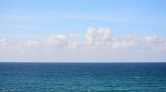 Blue sea and soft clouds Stock Footage