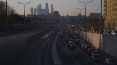 Urban road traffic long exposure time lapse - stock footage