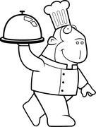 Ape Chef Stock Illustration