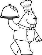 Stock Illustration of Beaver Chef