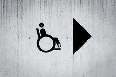 Disabled Person Sign Kuvituskuvat