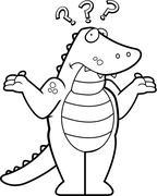 Alligator Confused - stock illustration
