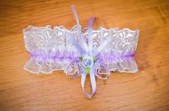 Garter against a tree - stock photo