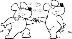 Rat Romance Stock Illustration