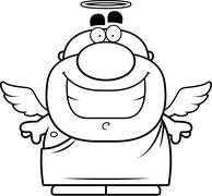 Cartoon Angel Stock Illustration