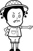 Angry Explorer Stock Illustration