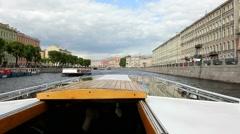 Fontanka river, St. Petersburg Stock Footage