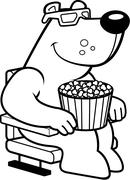 Cartoon Bear 3D Movies - stock illustration