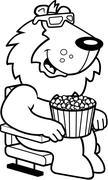 Cartoon Lion 3D Movies Stock Illustration