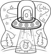 Alien Abduction Stock Illustration
