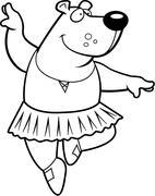 Ballerina Bear - stock illustration