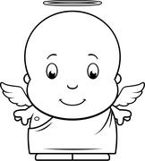 Cartoon Baby Angel Stock Illustration