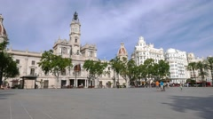 Valencia, Spain Plaza de Ayuntamiento (City Hall) Stock Footage