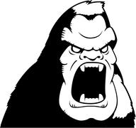 Angry Ape Stock Illustration