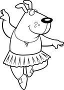Stock Illustration of Dog Ballerina