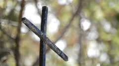 Spanish Old Iron Cross Stock Footage