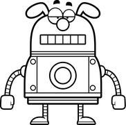Unemotional Robot Dog Stock Illustration