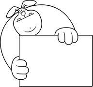 Cartoon Rabbit Hiding Stock Illustration