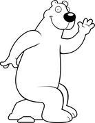 Polar Bear Sitting - stock illustration