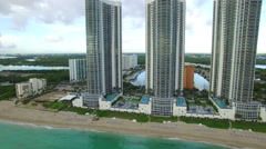 Aerial video Sunny Isles Beach condos 4 Stock Footage