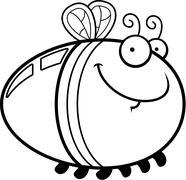 Happy Cartoon Firefly - stock illustration