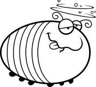 Cartoon Drunk Grub Stock Illustration