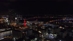 Aerial video Downtown Miami night 8 Stock Footage