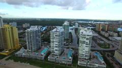 Aerial Sunny Isles Beach FL 9 Stock Footage