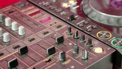 Audio production console, sound-recording studio Stock Footage