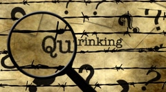 Magnifying glass on quit drinking Stock Footage