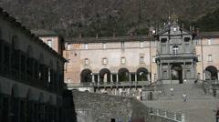 Sancturary of Oropa, Biella, Piedmont, Italy Stock Footage