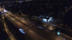 I95 highway night aerial video 2 Stock Footage