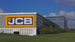 JCB Headquarters  - Staffordshire England Stock Footage