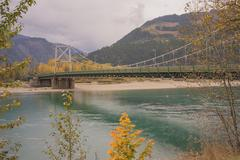 Columbia River Bridge, Revelstoke, British Columbia Stock Photos